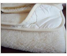 Manta de Lana de Oveja 100% Merino, 140 x 190 cm, Marca Woolmark Producto Natural Perfecto para Regalo.