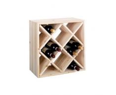Zeller 13171 Raute - Botellero de madera natural (52 x 25 x 52 cm)