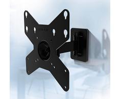 Gisan AX210 Soporte de Pared articulado, Acero, Negro, para TV LED/LCD de Peso máximo 20 kg y VESA 200 x 200 mm
