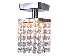 Metal - Lámparas Araña/Montage de Flujo - Cristal/Mini Estilo/Bombilla incluida - Moderno / Contemporáneo Chandelier Mini de Cristal Cromada LICHFIELD