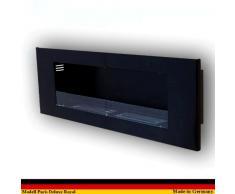 Gel y Etanol Chimenea Modelo Paris Deluxe Royal - elegir el color (Negro)