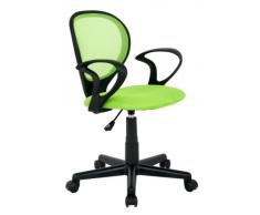 Silla de oficina Silla giratoria verde/negra - H-2408F/1408