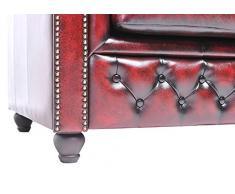 Chesterfield Showroom - Chesterfield Original Sofá - 1+3 plazas - Este sofa esta hecho completamente a mano - Rojo envejecido