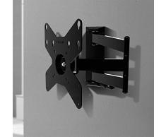Gisan AX212 Soporte de Pared articulado, Acero, Negro, para TV LED/LCD de Peso máximo 20 kg y VESA 200 x 200 mm