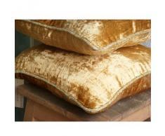 Oro Cubierta De Cojines Decorativos, Color Sólido Cuerda Con Cuentas 50x50 cm Lanzar Fundas De Almohada, Terciopelo Almohadas Fundas Para El Sofá - Gold Shimmer