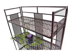Hafix - Estantería para Jardín apilable (una unidad), metal