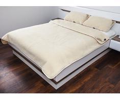 100% manta lana Merino más de funda para edredón y almohada, para cama de matrimonio 200/200 cm con texto en inglés de calidez y confort