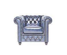 Chesterfield Showroom - Chesterfield Original Sofá - 1+2+3 plazas - Este sofa esta hecho completamente a mano - Azul envejecido