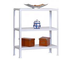 Estantería metálica Homeclick Metal Mini 3/300 blanco, Kit Homeclick Metal, 900x800x300, 3 estantes, Simonrack