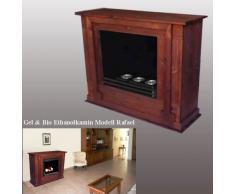 Chimenea Rafael mahogany-brown/uso con Gel de bioetanol y fuego