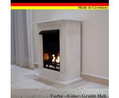 Chimenea Etanol y Gel Modelo Madrid Deluxe Granito blanco