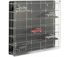 Vitrina para coches de escala 1:43 [SO-10810] Vitrina acrílico con pared dorsal reflectante, negro o transparente