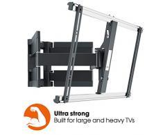 Vogels Thin 550, Ultra fuerte soporte de Pared para TV muy grande (102-254 cm, 40-100 Pulgadas) y mayor peso (máx. 70 kg), Inclinable y Giratorio 120º, Sistema VESA máx. 600x400 mm, negro