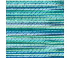 Fab Hab - Cancun - Alfombra para Exterior e Interior - Turquesa y Verde Musgo - (120 cm x 180 cm)