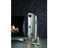 Kamino-Flam – Juego para chimenea (3 unidades), Utensilios para chimenea (escobilla, recogedor, atizador), Accesorios para chimenea, estufa o barbacoa – acero
