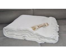 DOUBLE Manta 160 x 200 de 100% pura lana Merina 160/200cm Cálido y Natural Muy suave y confortable. MANTA PICNIC