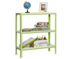 Simonrack GG2100209901033 - Estantería metálica sin tornillos (900 x 1000 x 300 mm, 150 kg/estante, 3 estantes metálicos) color verde/blanco