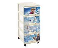 Estantería de 4 ruedas con papelera Frozen 4 cajones caja de almacenamiento torre