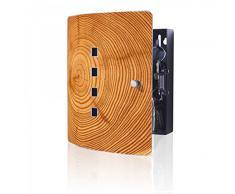 banjado - diseño de acero inoxidable de armario de llaves de Burg-Wächter con diseño de tronco de árbol
