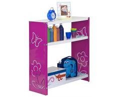Estantería Metálica infantil, Kit Habitat Toy Mini 3/300 rosa/blanco, 900x600x300, 3 estantes, Simonrack