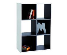 Demeyere 227443 - Librería de salón, Color Blanco/Negro