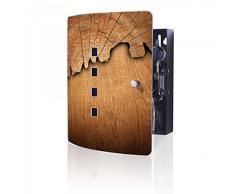 banjado - acero inoxidable Armario para llaves de Burg-Wächter con diseño de madera
