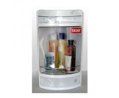Tatay, del estante de la esquina con el cajón, plástico, blanco (Glace), 28,5 x 19 x 50 cm