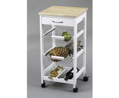 Kit Closet 7040028002 - Carro de cocina con cestas + botellero, madera