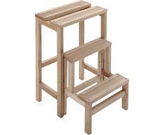 Taburete escalera compra barato taburetes escalera online en livingo - Peldanos de madera para escalera ...