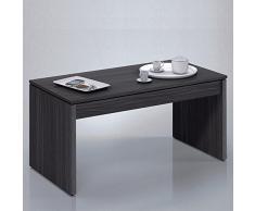 Due-home (Zenit) - Mesa de centro elevable , acabado ceniza , dimensiones 100 cm x 50 cm x 43 cm
