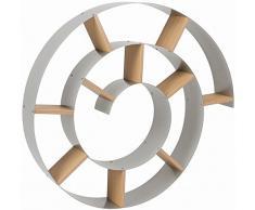 Kare 70755 - Estantería de pared en espiral (75 x 75 x 13 cm), color metálico [Importado de Reino Unido]