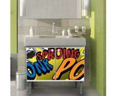 Lavabo mueble de baño mueble de baño 60 x 55 x 35 cm armario con diseño: de