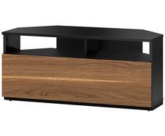 Sonorous Troy esquinero mueble para televisor - Madera de nogal