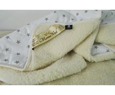 Edredón pura lana de oveja merina esponjada Natural y cálida manta de lana de merino de manta (140_x_200_cm , White)