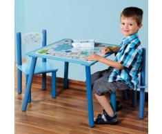 Kesper 17721 - Conjunto de mesa y 2 sillas para niños (conglomerado, montaje sencillo)