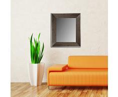 Lienzos Levante Espejo de Pared para vestidor, cabecero o aparador, Madera, Negro, 162 x 62 cm