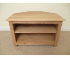 Mueble de esquina para televisor de madera de pino, con función de atril armario o, 750 mm con estante ajustable, ideal para el salón o sala de estar