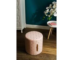 elbmöbel Asiento Taburete Pouf Asiento Puf Otomano Taburete Color Rosa Oro