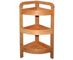 Genérico - Estantería esquinera (bambú, 3 estantes)