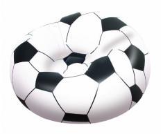 Bestway - Puff hinchable balón de fútbol, 114 x 112 x 71 cm