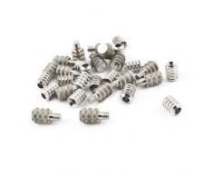 22 mm x 8 mm 4,5 mm de rosca de acoplamiento compatible con soporte estante de cristal individual 15 piezas