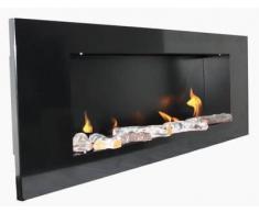 Metal Chimenea Negro / BBT-10001100 / Para el uso con el Fuego-Gel o Bio-Etanol / Por último: Bienes Fuego - NO cenizas, polvo o humo! / Chimeneas