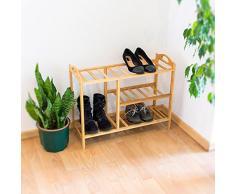 Relaxdays 10019016_348 - Estante para zapatos de bambú, 56 x 68.5 x 26 cm, 2 kg