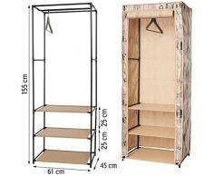 ArtMoon Loft Armario de Tela Plegable Estantes para Ropa Acero pintado / plástico / poliéster 61x45x155cm