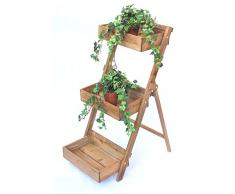 Hierbas Estantería Fiora de 1 de madera 90 cm flores Escaleras Planta Escaleras florero