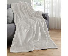 Manta de visón de piel manta de 150 x 200 cm para sofá cama de piel de pelo con diseño de manta
