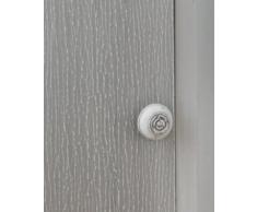 Mueble de esquina madera de pino maciza, color blanco, 1 puerta, color blanco