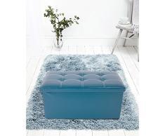 Mobili Rebecca® Puff para almacenar Baúl Sillon polipiel Caja asiento Puf plegable Organizador casa 38 x 76 x 38 cm(Cod. RE4904)
