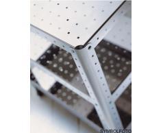 Graepel G-Line Pro Quadra – Estantería S – TV Hi-Fi de acero lacado en plata con ruedas
