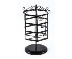 giratorios joyería joyas pie almacenamiento titular la - , presentación estante perforado de exhibición negro pendientes Pendiente aretes mostrar porta del pendiente HEXAGONAL soporte